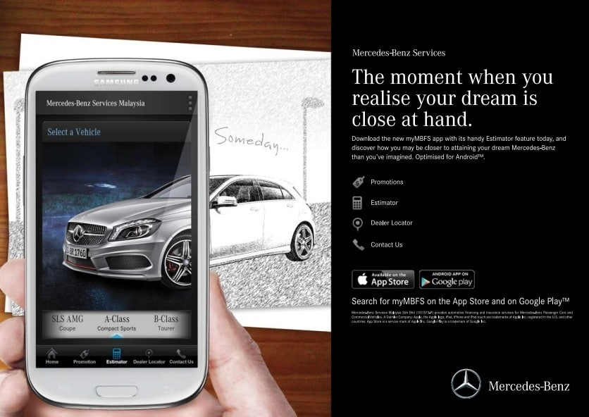 Mercedes benz services malaysia launches android version for Mercedes benz customer service usa