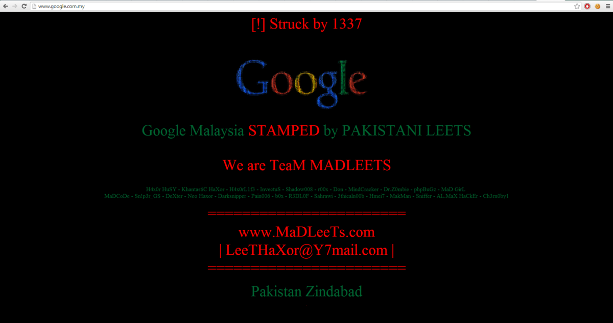 Netbios Name Service Spoofing Google Malaysia Defaced