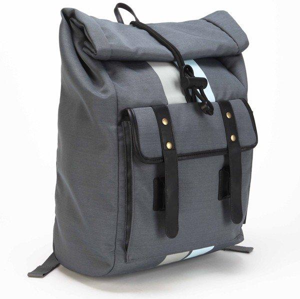 TSB80404AP_Geo 15.6 Roll Top Backpack (Grey Black)