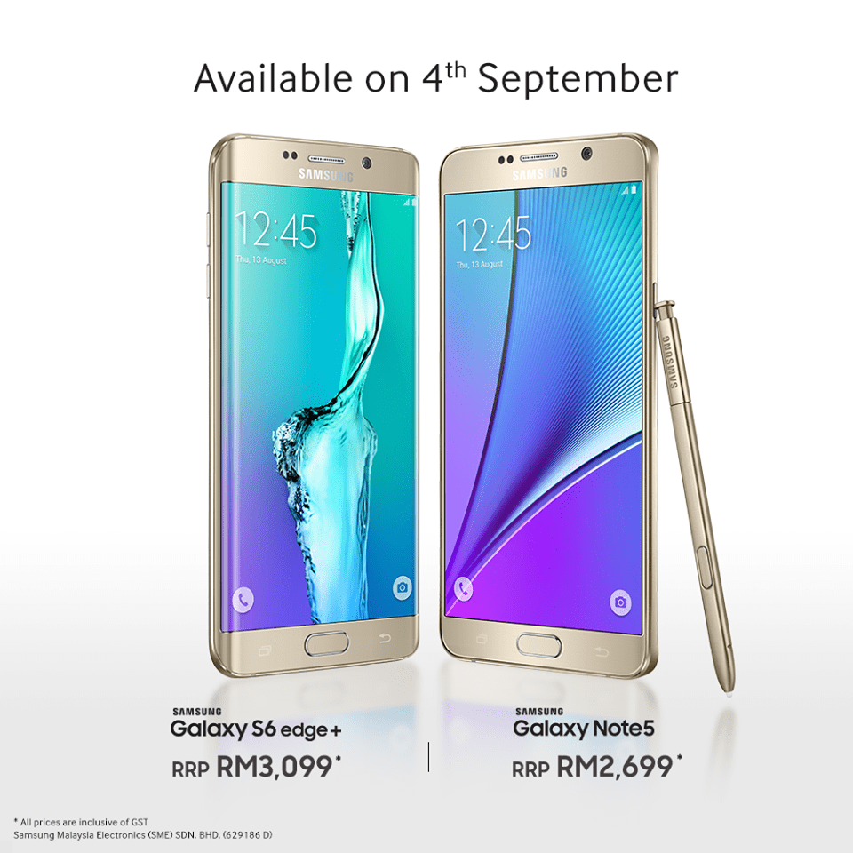 Samsung Announces Price On Galaxy Note 5 And Edge 6+