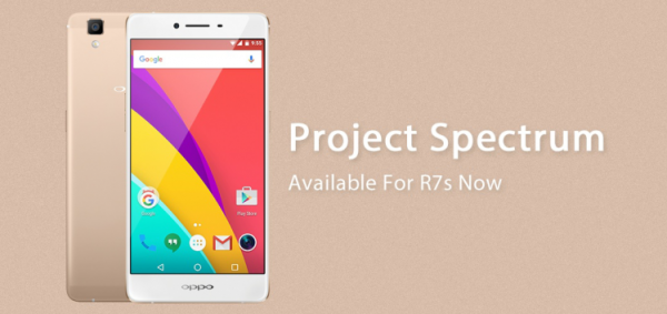 OPPO Releases Project Spectrum Firmware Update For R7s