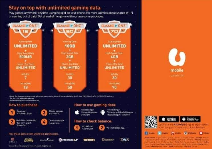 Game-Onz with U Mobile! | LiveatPC com - Home of PC com Malaysia