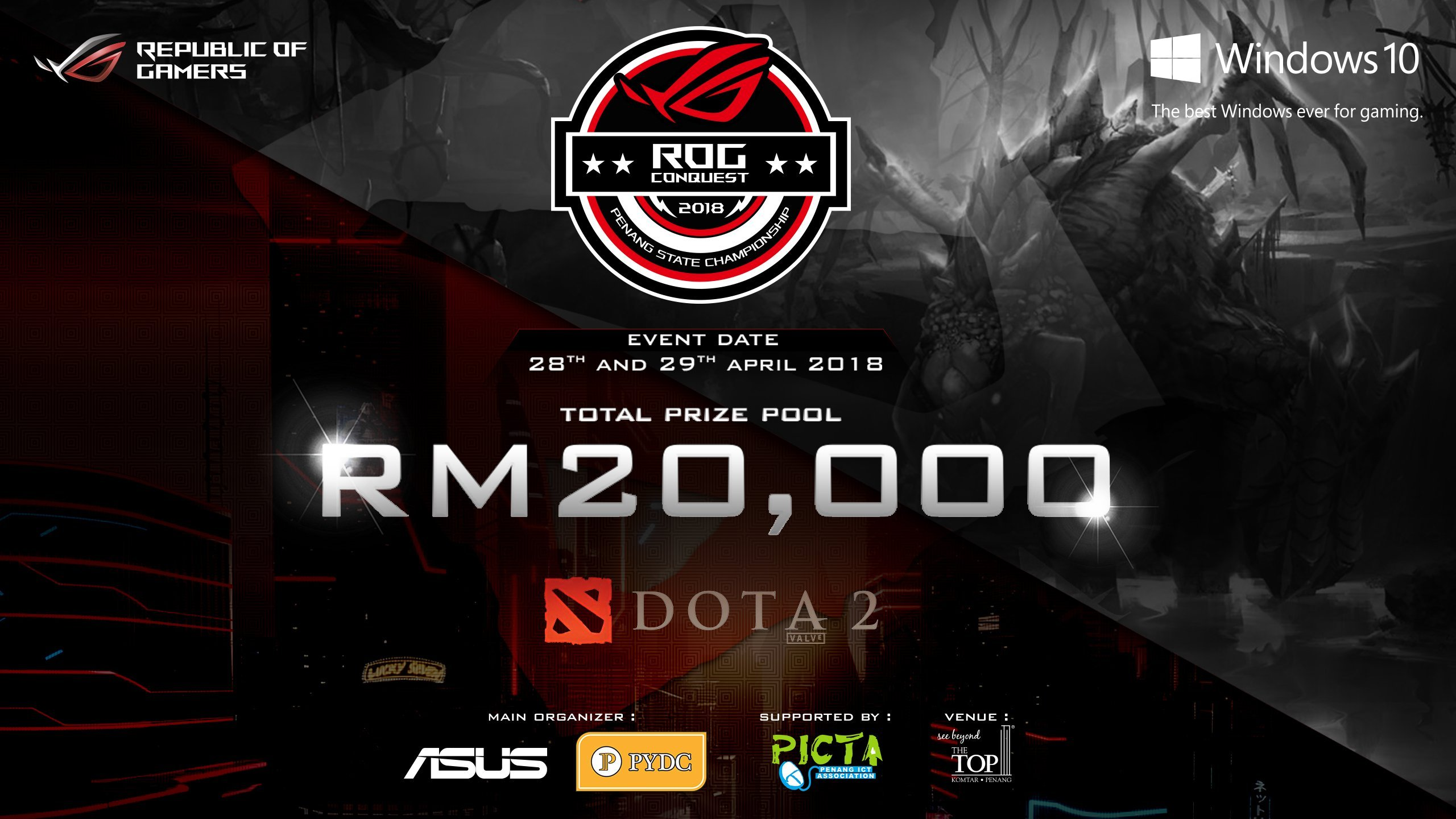 asus rog launches dota 2 tournament penang state