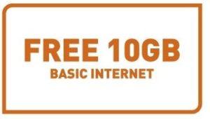 free 10gb of internet