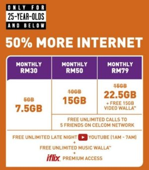 50% more internet for youngsters