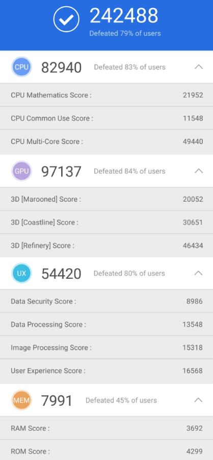 Samsung Galaxy Note9 Benchmark - AnTuTu