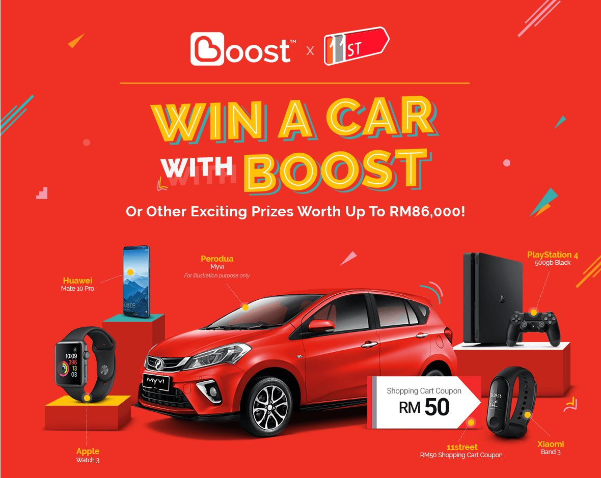 How To Win A Car >> Rewarding Experience For Online Shoppers Of Boost X 11street Win A