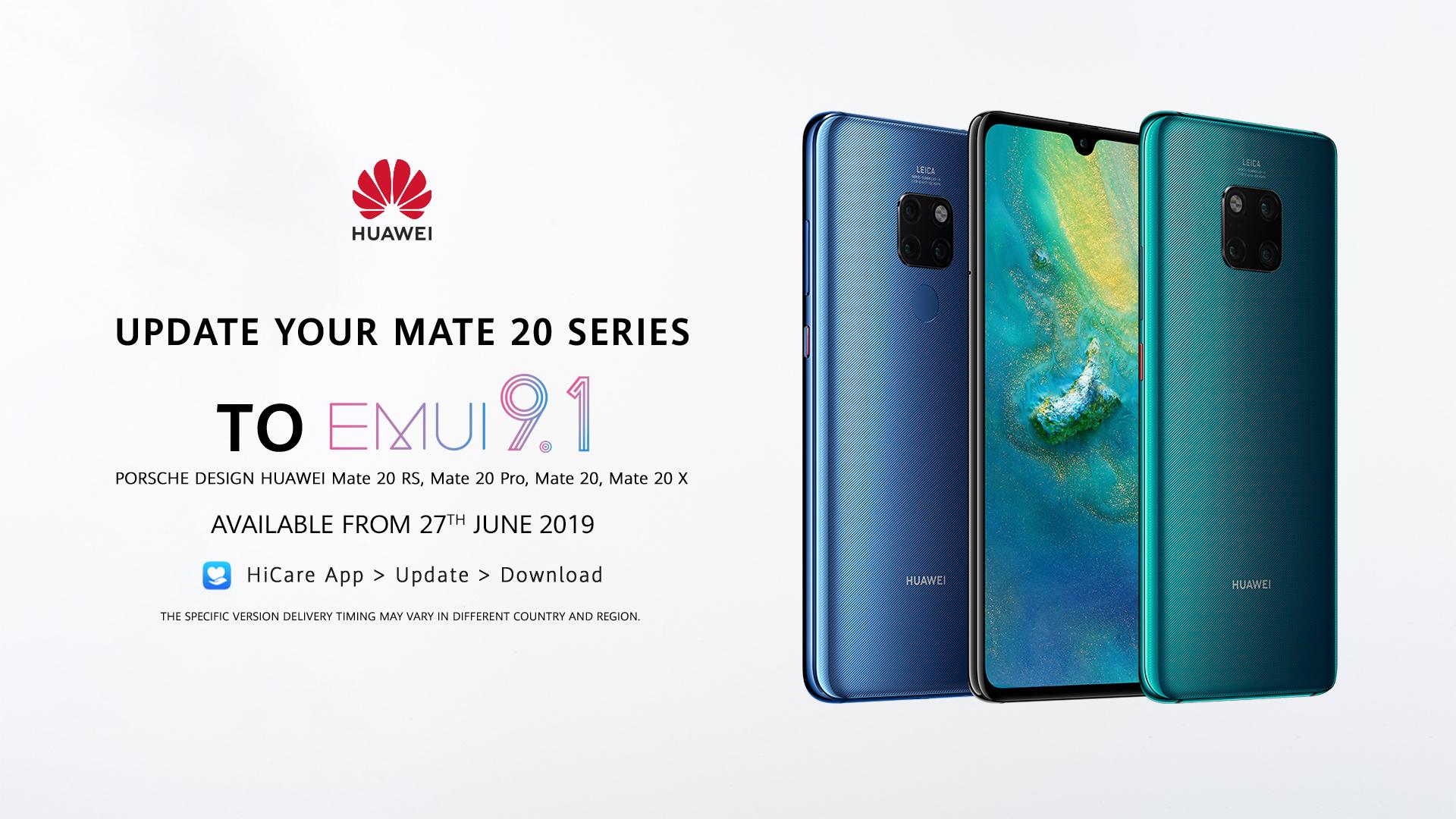 EMUI 9 1 Upgrade For Huawei Mate 20 Series Coming Soon