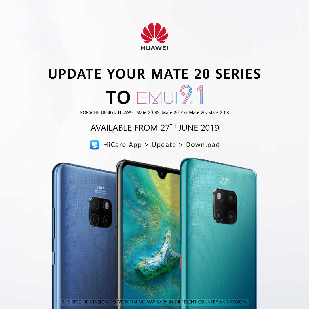 EMUI 9 1 Upgrade For Huawei Mate 20 Series Coming Soon