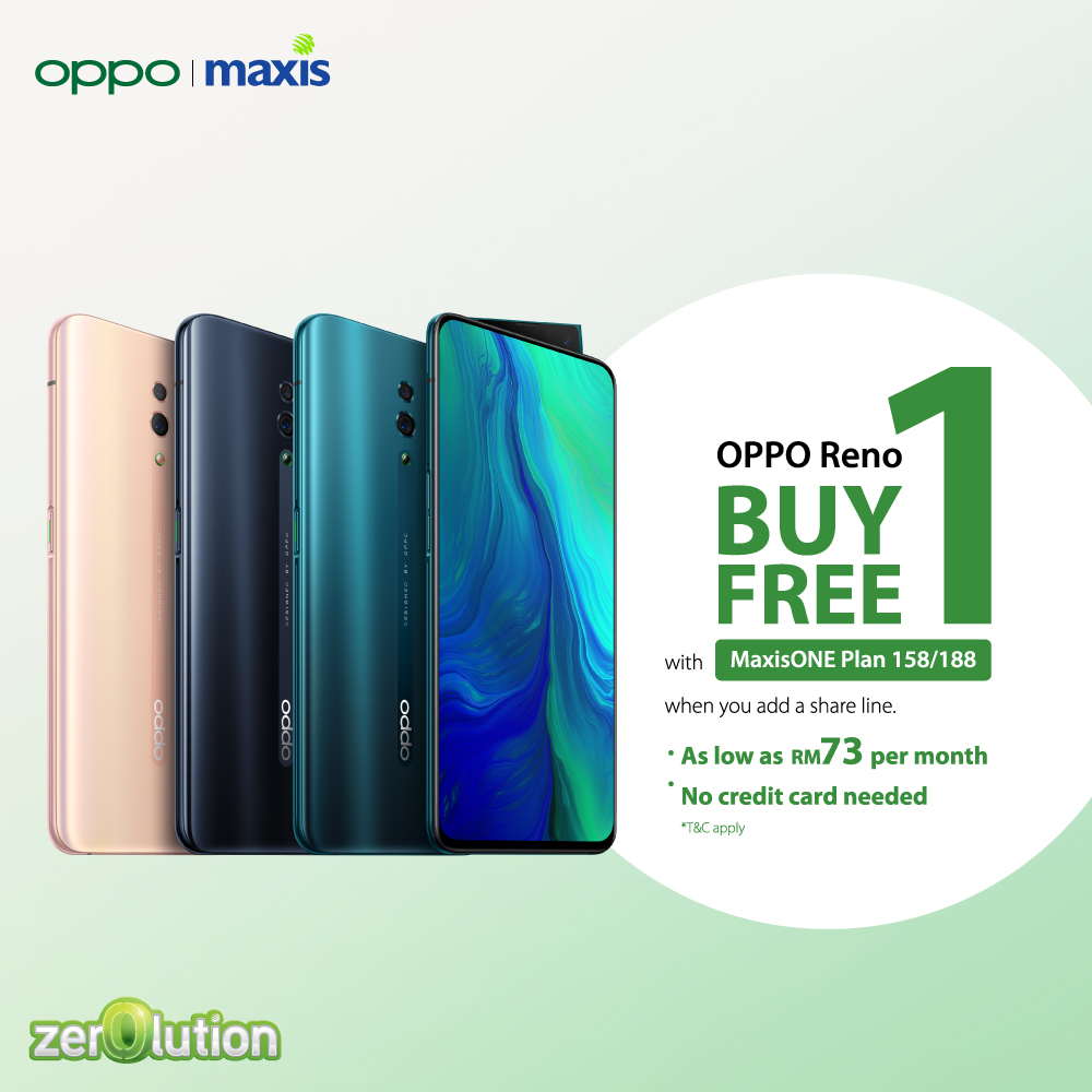 Maxis Is Offering A Buy One Free One Deal For The Oppo Reno