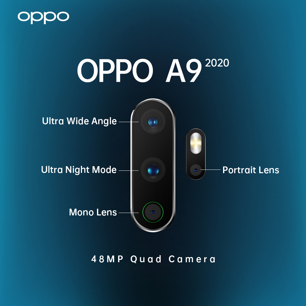 Best Cell Phone Camera 2020.Oppo Unveiling A9 2020 In September Quad Cam Setup 5000