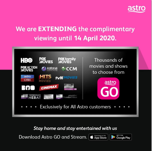 Astro Extends Complimentary Viewing To 14 April 2020 Liveatpc