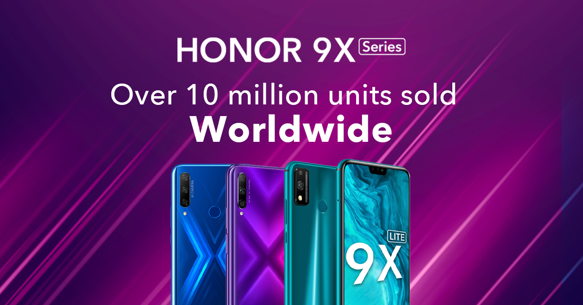 HONOR 9X Series Sells 10 Million Units Worldwide; Which One In The ...